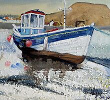 Seaton Rose and Cowbar, Staithes by Sue Nichol