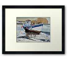 Seaton Rose and Cowbar, Staithes Framed Print