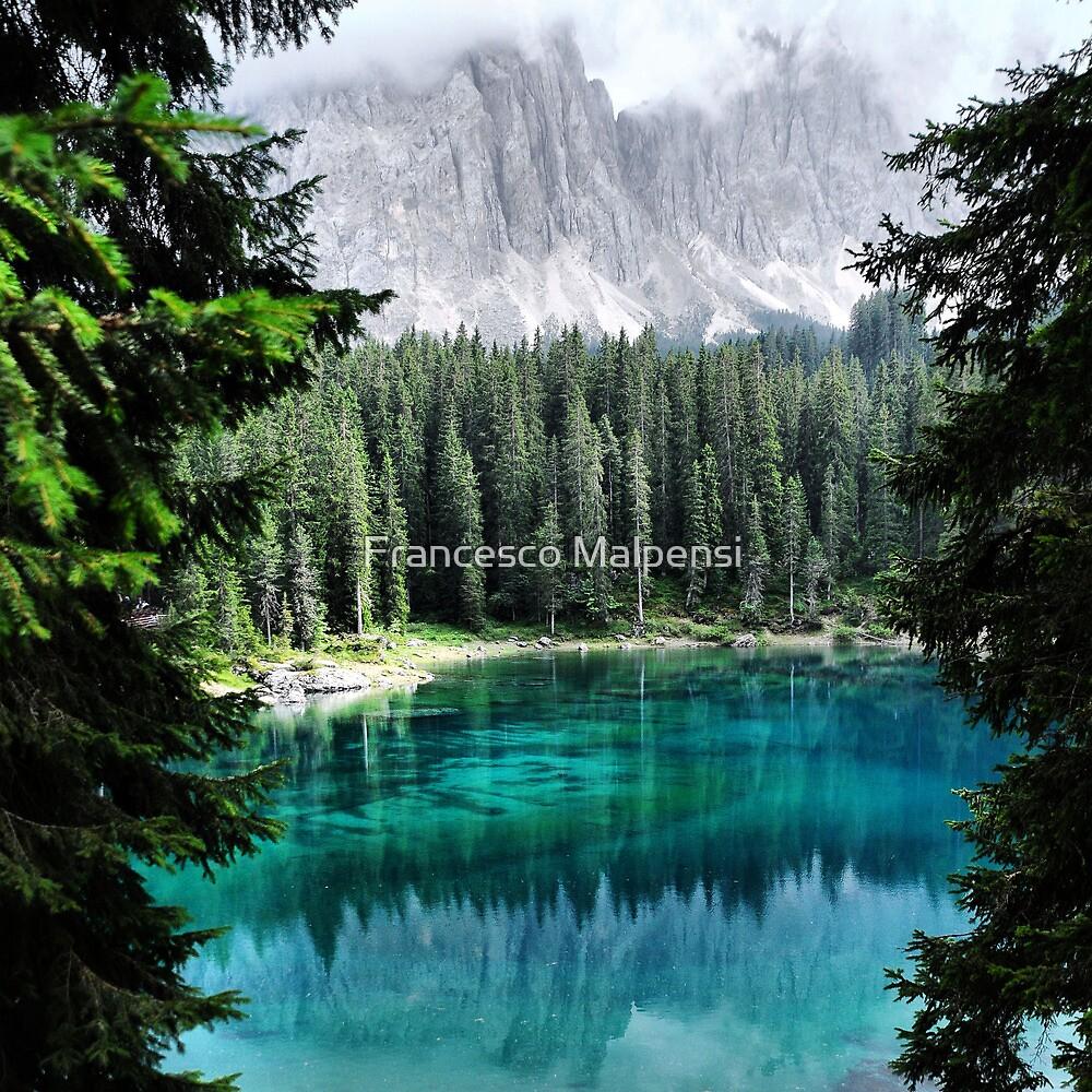 Dolomites Lake reflections by Francesco Malpensi