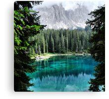 Dolomites Lake reflections Canvas Print