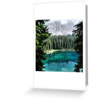 Dolomites Lake reflections Greeting Card