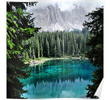 Dolomites Lake reflections Poster