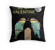 Bee Eaters Be My Valentine Throw Pillow