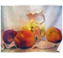 Prussian Pitcher with Peaches Poster