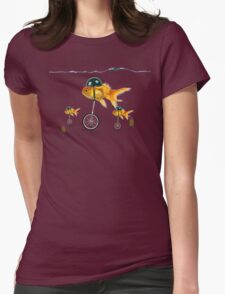 gold fish 3 Womens Fitted T-Shirt