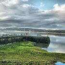 Arnside Pier.  by Lilian Marshall