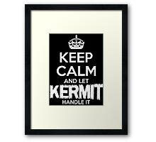 Keep Calm And Let Kermit Handle It Framed Print