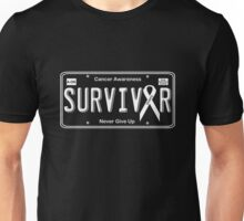 Cancer Survivor License Plate Shirt  Unisex T-Shirt