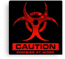 Zombies at Work Canvas Print