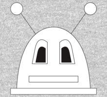 Robot (Basic) Filled face Kids Tee