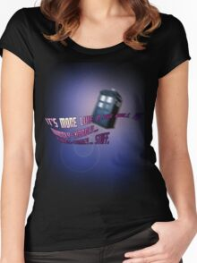 Wibbly-wobbly... timey-wimey... stuff. - Doctor Who Women's Fitted Scoop T-Shirt