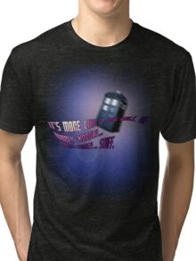Wibbly-wobbly... timey-wimey... stuff. - Doctor Who Tri-blend T-Shirt