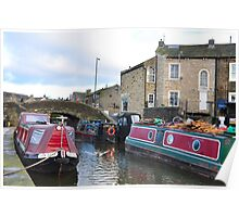 The Canal basin, Skipton Poster