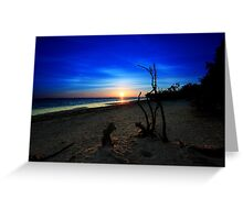 to the  start of a new day Greeting Card