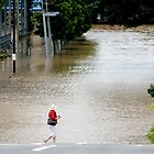 "Brisbane floods - Cultural Centre, South Brisbane or ""How do I get to my Latte!"" by Jordan Miscamble"
