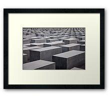 Holocaust Memorial, Berlin, Germany Framed Print