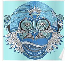Colorful Monkey Poster