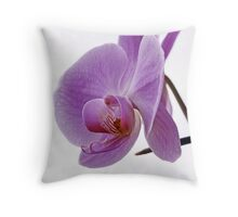 Mauve Orchid Throw Pillow