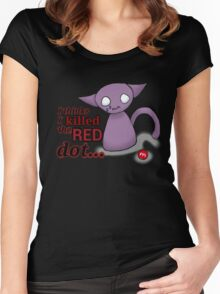 I Thinks I Killed The Red Dot Women's Fitted Scoop T-Shirt