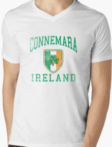 Connemara, Ireland with Shamrock Mens V-Neck T-Shirt