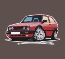 VW Golf GTi (Mk2) Red One Piece - Short Sleeve