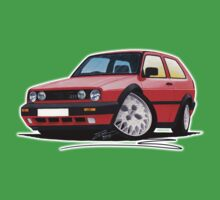 VW Golf GTi (Mk2) Red Kids Clothes