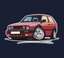 VW Golf GTi (Mk2) Red Kids Tee