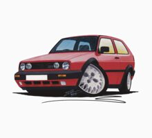 VW Golf GTi (Mk2) Red One Piece - Short Sleeve