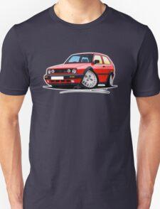 VW Golf GTi (Mk2) Red Unisex T-Shirt