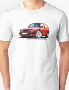 VW Golf GTi (Mk2) Red T-Shirt