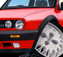 VW Golf GTi (Mk2) Red Sticker