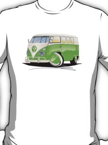 VW Splitty (11 Window) Lime Green T-Shirt