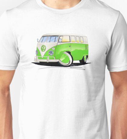 VW Splitty (11 Window) Lime Green Unisex T-Shirt