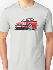 VW Golf (Mk3) Cabriolet Red T-Shirt