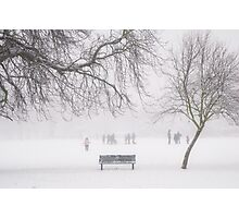 Winter bench Photographic Print