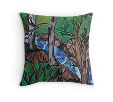 View from Inside the Winter Woods Throw Pillow