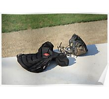 Baseball Glove and Chest Protector Poster