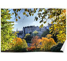 An Autumnal Frame Round the Tenements of Edinburgh Poster