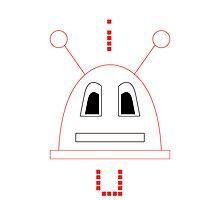 I Robot U (Red) Photographic Print