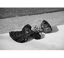 Baseball Glove and Chest Protector Photographic Print