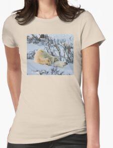 Yoga Bear stuck Womens Fitted T-Shirt