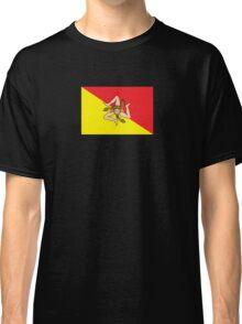 Sicilian Bandiera - Flag of Italian Island Sicily - T-Shirt Bedspread Classic T-Shirt