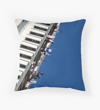 Washing Line High Throw Pillow