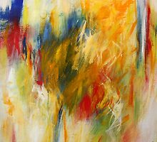 Ignition. 24 x 24. Acrylic Painting. by csoccio100