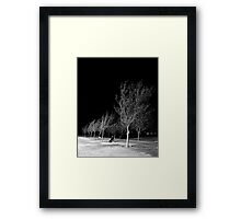 Ridgecrest Park in December Framed Print