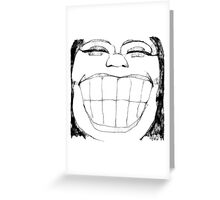 Woman of happy means Greeting Card