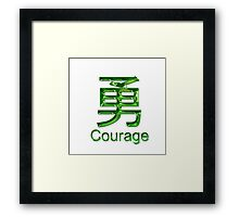 COURAGE KANJI Framed Print