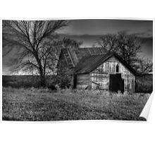Old Barn - Sunset Texas Poster