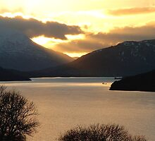 Winter Sunset, Loch Tay by Stuart  Fellowes