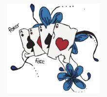 'Poker Face' One Piece - Long Sleeve